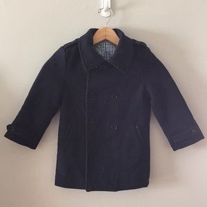 Kids Navy Blue Egg by Susan Lazar Peacoat